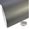 3D grey carbon fibre vinyl