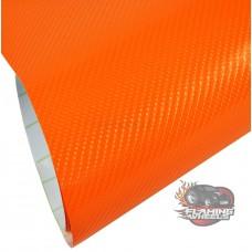 4D Orange gloss carbon fibre vinyl