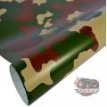 Woodland camouflage vinyl car wrap air free